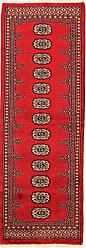 Nain Trading Pakistan Buchara 2ply Rug 61x21 Runner Red/Rust (Pakistan, Wool, Hand-Knotted)