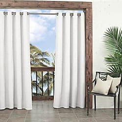 Ellery Homestyles PARASOL Key Largo Indoor/Outdoor Curtain Panel, 52 x 95, White