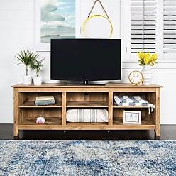 Porch & Den Grant Barnwood 70-inch TV Media Stand - 70 x 16 x 24h (Barnwood)