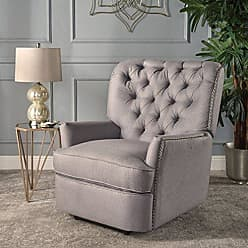 GDF Studio Christopher Knight Home 301901 Palermo Power Recliner Chair, Light Grey