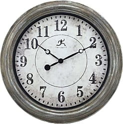 Infinity Instruments Aged Silver and Gold Wall Clock - 15199AS-4128