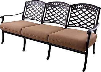 DARLEE Outdoor Darlee Sedona Patio Sofa with Sesame Cushions - 201038-9/109-AB