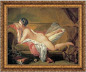 Design Toscano The Blond Odalisque, 1752, Canvas Replica Painting: Grande