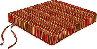 Jordan Manufacturing Company Deluxe Sunbrella Rocker Seat Cushion w/Ties, 21 x 17, Cherry Stripe