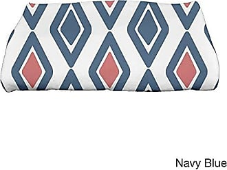 E by Design Ebydesign Diamond Jive 2 Geometric Print Bath Towel 28 x 58 Blue