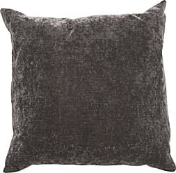 Jaipur Solid Pattern Black Linen and Cotton Polly Fill Pillow, 20-Inch x 20-Inch, Charcoal Gray Luxe