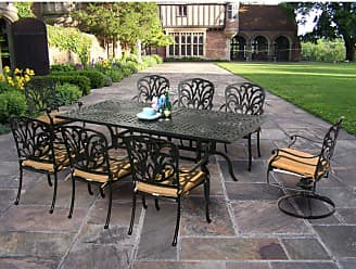 Oakland Living Outdoor Oakland Living Hampton 84 x 42 in. Patio Dining Set With Sunbrella Cushions - 7207-7201-7202-17-D54-AB