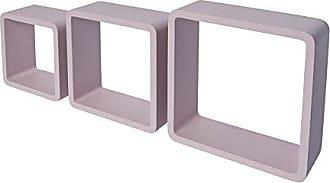 Madera 30/x 12/x 30/cm Rojo DURAline Shelving White Label Triple Cubo 12/mm 30/x 30/x 12/cm