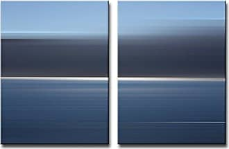 Ready2HangArt Ready2hangart 2 Piece Blur Stripes XXXIII Canvas Wall Art Set, 16 x 24