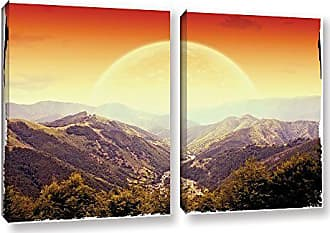 ArtWall 2 Piece Dragos Dumitrascus Highland Sunset Gallery Wrapped Canvas Artwork, 18 x 28