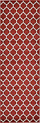 Unique Loom Trellis Collection Moroccan Lattice Red Runner Rug (3 x 8)