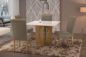 Siena Móveis Conjunto Sala de Jantar em Madeira Maciça Mesa Suécia 4 Cadeiras Priscila Siena Móveis Imbuia Natural/Suede 15