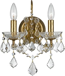 Crystorama Filmore Collection Wall Sconce in Antique Gold w/Swarovski Spectra Crystal
