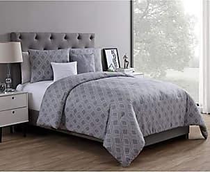 VCNY Home VCNY Home Eli Geometric Jaquard 5 Piece Bedding Comforter Set, King, Grey