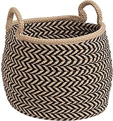 Colonial Mills Preve Basket, 18x18x17, Taupe & Black