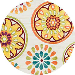 Loloi Rugs Loloi ISBEHIS08IVML300R Isabelle Area Rug, 3-0 x 3-0 Round, Ivory/Multi