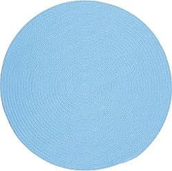 Rhody Rug Fun Braids Solid Aqua Blue 6 Round