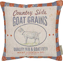 Primitives By Kathy Feed-Inspired Throw Pillow, 12, Country Side Goat Grains