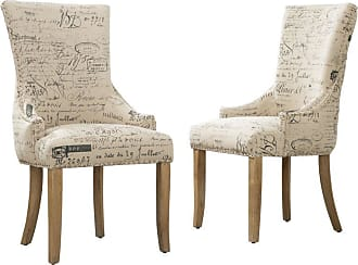 Round Hill Furniture Jadinna Ave Tufted Accent Chair - Set of 2 - C501