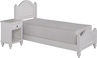 Home Styles Bermuda White Twin Bed with Night Stand by Home Styles