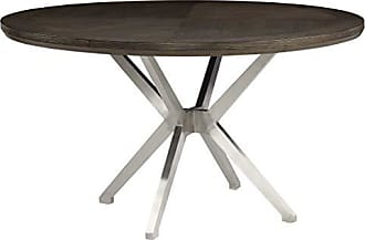 Homelegance 5581 Round Dining Table, 54 Dia, Gray