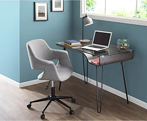 LumiSource Vintage Flair Adjustable Office Chair Blue - OC-VFL BK+BU
