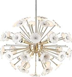 Golden Lighting 5933-8P PW Kyoto 8 Light 32 Wide Sputnik Chandelier