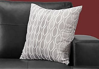 Monarch Specialties I I 9346 Throw Pillow, 18 x 18, Grey