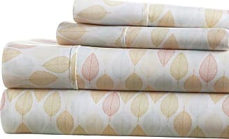 Noble Linens Premium Ultra Soft Fall Foliage Pattern Sheet Set by Noble Linens, Size: Queen - NL-4PC-LEA-Q-YE