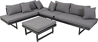 Greemotion Lounge Set Calais, 3 Teilig, Gartenmöbel Set Inkl. Auflagen,