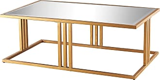 Dimond Home Andy Coffee Table In Gold Leaf And Clear Mirror