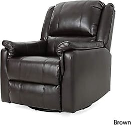 GDF Studio Christopher Knight Home 302059 Jemma Swivel Gliding Recliner Chair, Brown