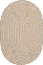 Rhody Rug Fun Braids Solid Sand Beige 2X3 Oval