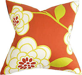 The Pillow Collection Junot Floral Bedding Sham Orange, King/20 x 36
