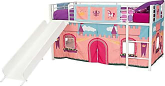 Dorel Home Products DHP 4313119SET Loft Bed with Slide, Twin, White