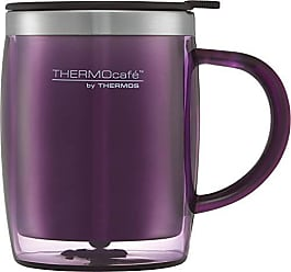 BPA-Free passend unter viele Kaffeevollautomaten ThermoCaf/é by THERMOS 4064.244.025 Kaffeetasse DeskCup Edelstahl Pink 0,25 l