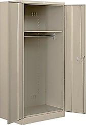 Salsbury Industries Heavy Duty Assembled Wardrobe Storage Cabinet, 78-Inch High by 24-Inch Deep, Tan