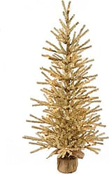 Vickerman 24 Champagne Tree Featuring 210 Pvc Tips and 35 Clear Dura-Lit Italian Led Mini Lights. Comes in a Burlap Base