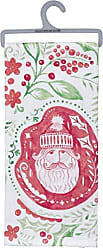 Primitives By Kathy Hand-Lettered Dish Towel, Santa