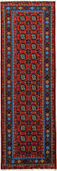 Nain Trading Oriental Afghan Akhche Baghlan Rug 81x28 Runner Dark Grey/Dark Blue (Wool, Afghanistan, Hand-Knotted)