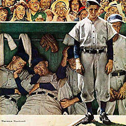 Marmont Hill Vintage-Sports The Dugout Canvas Wall Art, 40 by 40
