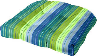 Cushion Source 21 x 21 in. Striped Sunbrella Chair Cushion Foster Surfside - X67WT-56049