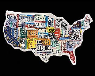 Portfolio Canvas Decor Portfolio Canvas DecorUSA License Map by Brady Barker 16x20 Portfolio Décor Canvas Print Wall Art