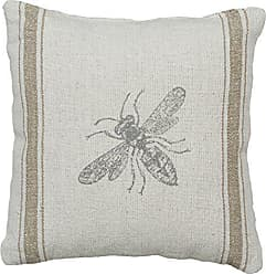 Primitives By Kathy Distressed Throw Pillow, 10 x 10-Inches, Bumblebee