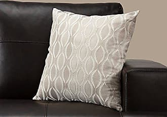 Monarch Specialties I I 9344 Decorative Throw Pillow, 18 x 18, Taupe