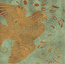Marmont Hill Golden Bird II Painting Print on Wrapped Canvas 18 x 18 Multicolor
