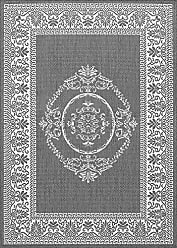 Couristan Couristan 1078/3012 Recife Antique Medallion/Grey-White 2-Feet 3-Inch by 11-Feet 9-Inch Rug