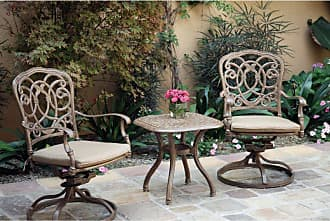 DARLEE Outdoor Darlee Florence 3 Piece Aluminum Square Patio Bistro Set - 201020-3PC-60A-AB