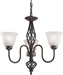 Thomas Lighting 2203CH Santa Fe 3 Light 24 Wide Chandelier with White