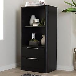 Baxton Studio Carlingford Modern and Contemporary Wood 2-Drawer Bookcase - BC 1260-05-DARK BROWN